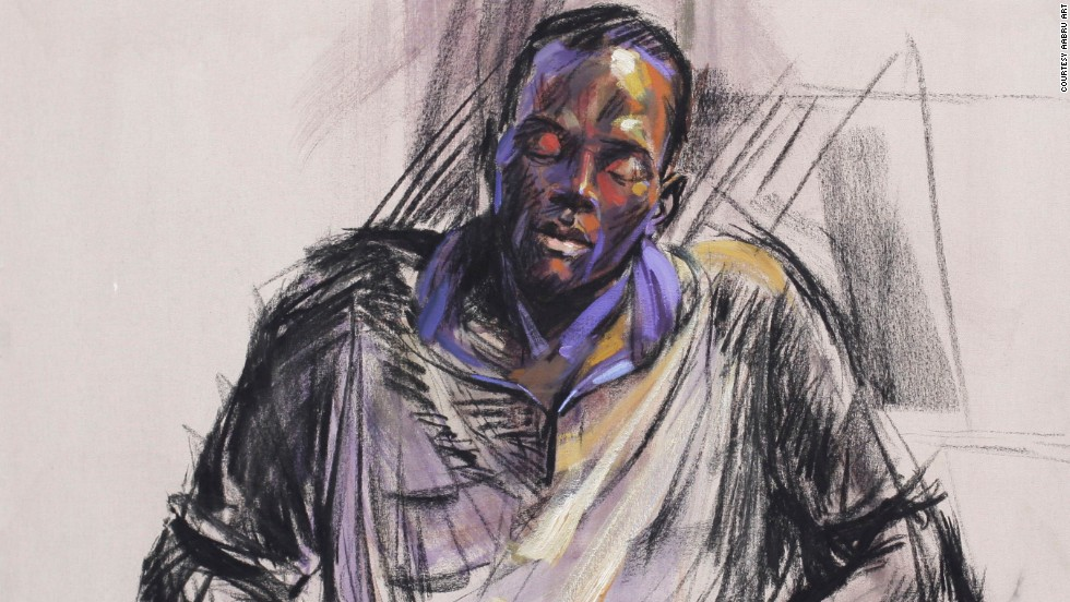 """From working as a set painter during his school years, to national service, Ogiogu's experiences can be read in his paint strokes. """"I did my first industrial attachment as an illustrator and a visualizer at the Nigerian Television Authority Benin,"""" he says.<br /><br />""""I was asked to paint sets, mostly street scenes and houses. But the technology was not that developed. I had to paint a series of scenes for the camera to pan through to make an animation. We had to do some mysterious things to make certain illusions for the audience."""" <em>(Pictured:</em> """"<em>Time for Everything"""")</em>"""