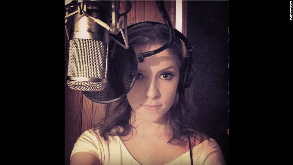 "Actress and singer Anna Kendrick posted this photo of her ""recording new material"" to <a href=""http://instagram.com/p/pNzez0KdXG/"" target=""_blank"">her Instagram account</a> Saturday, June 14."