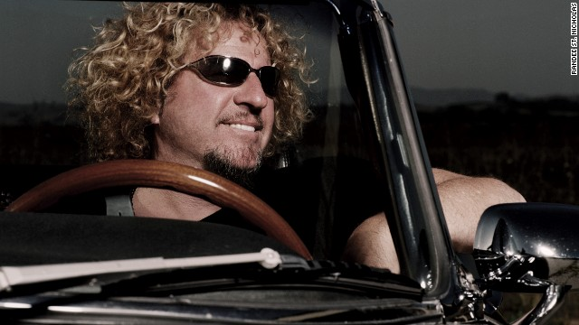 Sammy Hagar: Let's hope that's not a cop in the rear view mirror.