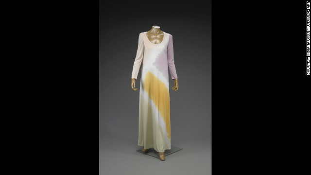A circa-1972 caftan from American designer Halston at the Indianapolis Museum of Art.