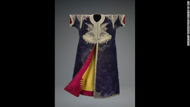 "A Moroccan ""bride's caftan"" from 1800-50 at the Indianapolis Museum of Art."