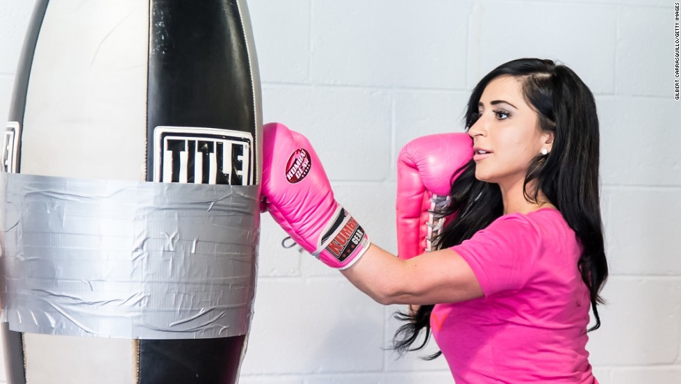 "Angelina Pivarnick appeared on the VH1 reality series ""Couples Therapy"" and these days is doing her fighting away from a Jersey bar. Here, she trains for a World Xtreme Entertainment Boxing fight at Stay Fly Muay Thai Gym in Philadelphia in May."