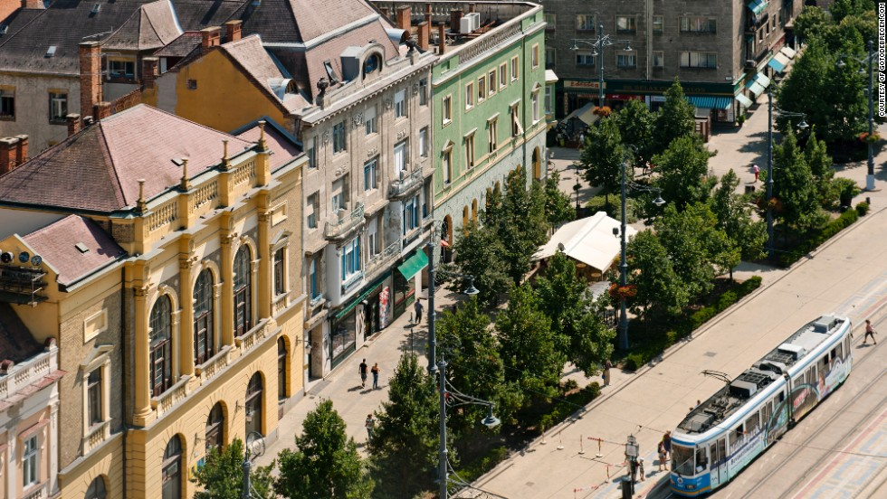 The city's eclectic architectural style is best appreciated from on high. The variety is a result of frequent blazes -- and subsequent new construction -- that led Debrecen to form one of Europe's first-ever fire brigades.