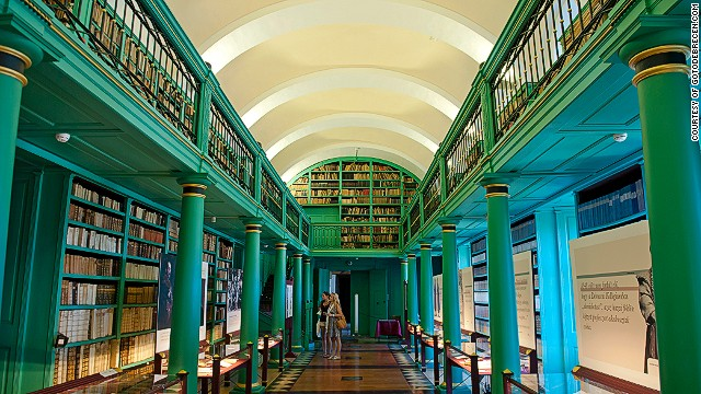 The library at 500-year-old Reformed College of Debrecen.