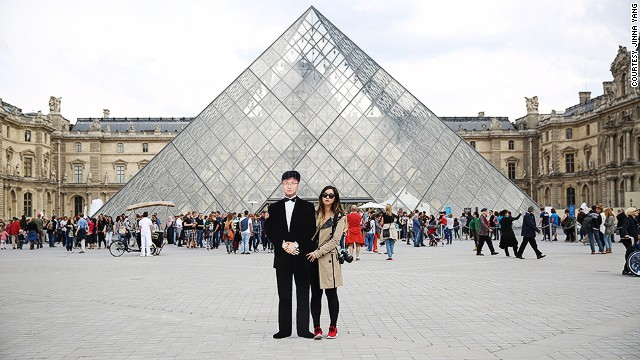After visiting London, Rome and the Louvre in Paris (pictured), Yang hopes to return to Europe in July.