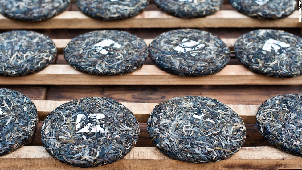 Pu'er is usually pressed into cakes and allowed to age so that its complexity and flavor improves over time, much like a good wine.