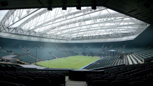 Wimbledon's 'giant umbrella'