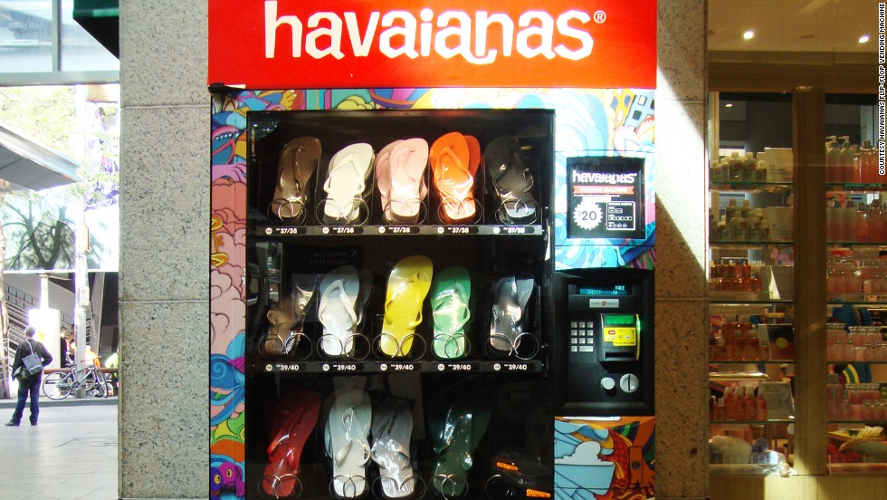 To embrace Australian culture, you need to wear flip-flops, or thongs as they're locally known. Say thank you to the Havaianas flip-flop vending machine.