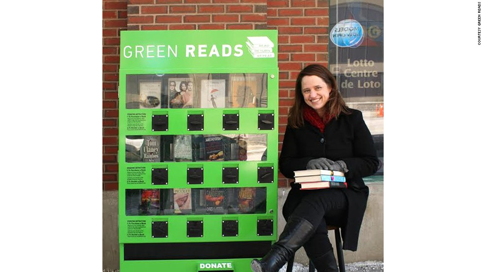This Canadian vending machine allows you to get a secondhand book for a mere $2, as well as giving you the opportunity to donate a book for the next reader.