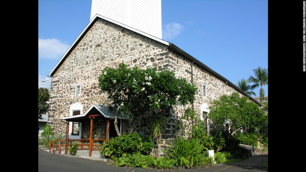 Hawaii's first Christian Church, Mokuaikaua in Kona has been standing since 1837.  Earthquake damage and natural wear and tear have led to the landmark's endangered status.