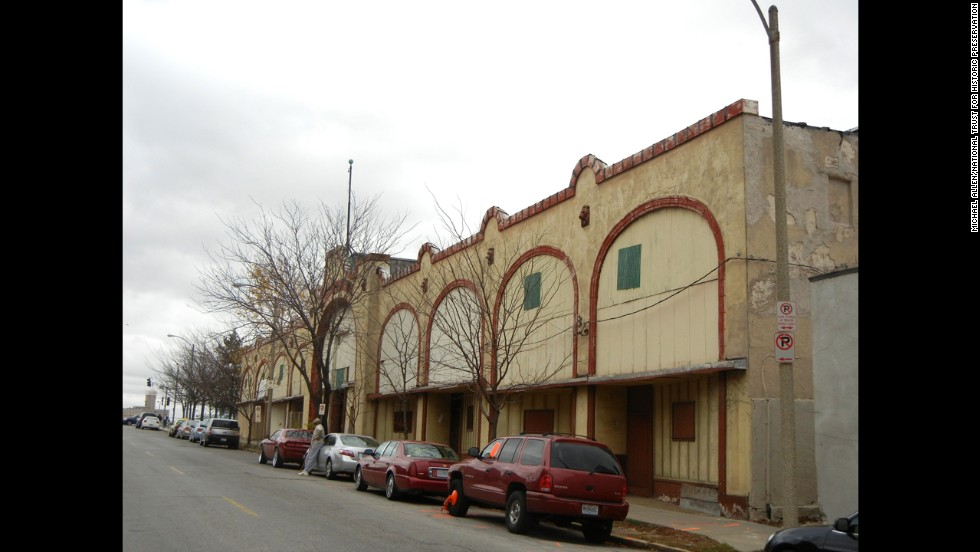 Housing a nightclub in the 1940s, St. Louis, Missouri's Palladium Building is not protected by local or national historic designations.  Although it was restricted to whites-only, it still played an important role in African-American music.