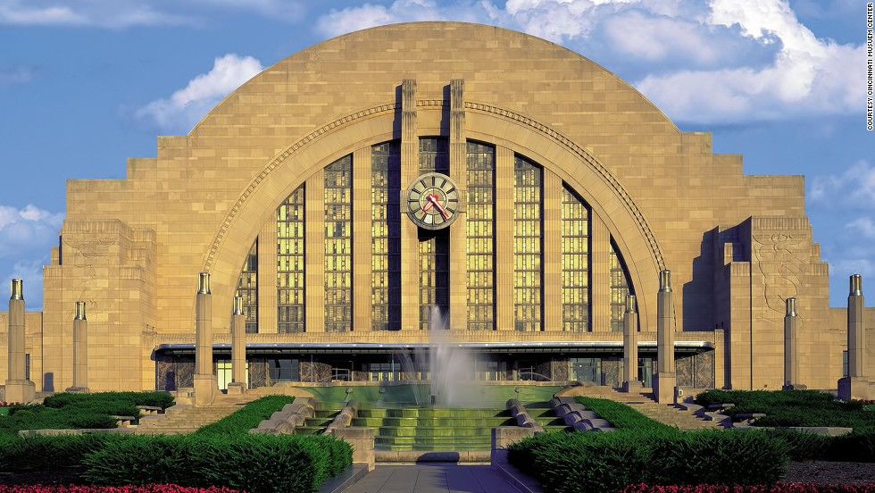 The second endangered site in Cincinnati, Ohio, Union Terminal is an iconic symbol of the city.  It is a world-class example of Art Deco architecture, but repairs are needed.