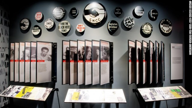 Images from the civil rights movement inside the new National Center for Civil and Human Rights in Atlanta.