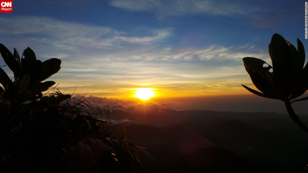 "After spending the day hiking up Mount Mantalingajan in Palawan, Philippines, <a href=""http://ireport.cnn.com/docs/DOC-1145270"">Sherbien Dacalanio</a> was treated to this summer sunset."