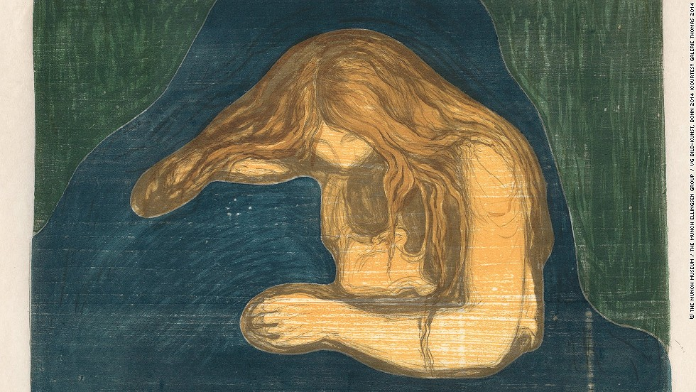 "<em>""Vampire II"" (1895/1902) by Norwegian artist Edvard Munch </em><br /><br />Other big hitters were <a href=""http://www.damienhirst.com/"" target=""_blank"">Damien Hirst's</a> installation <em><a href=""http://www.damienhirst.com/nothing-is-a-problem-for-me"" target=""_blank"">""Nothing is a problem for me""</em></a> sold for nearly $6m, and Ethiopian born artist <a href=""http://whitecube.com/artists/julie_mehretu/"" target=""_blank"">Julie Mehretu's</a> abstract canvass <em>""Mumbo Jumbo""</em>, which went for $4.85m. The fair, however, also displayed works of titans of 20th century art, such as this painting by Edvard Munch seen above."