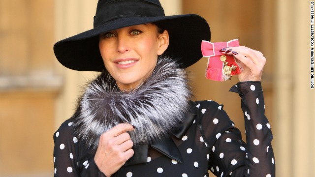 Caption:LONDON - SEPTEMBER 20: Jimmy Choo shoes founder Tamara Mellon with her OBE which was awarded by Queen Elizabeth II at an investiture ceremony at Buckingham Palace, on October 20, 2010 in London. (Photo by Dominic Lipinski - WPA Pool/Getty Images)