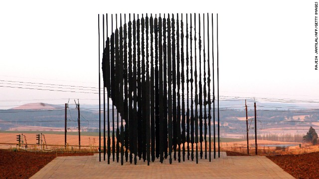 Mandela's arrest is recalled by a sculpture in The Midlands.