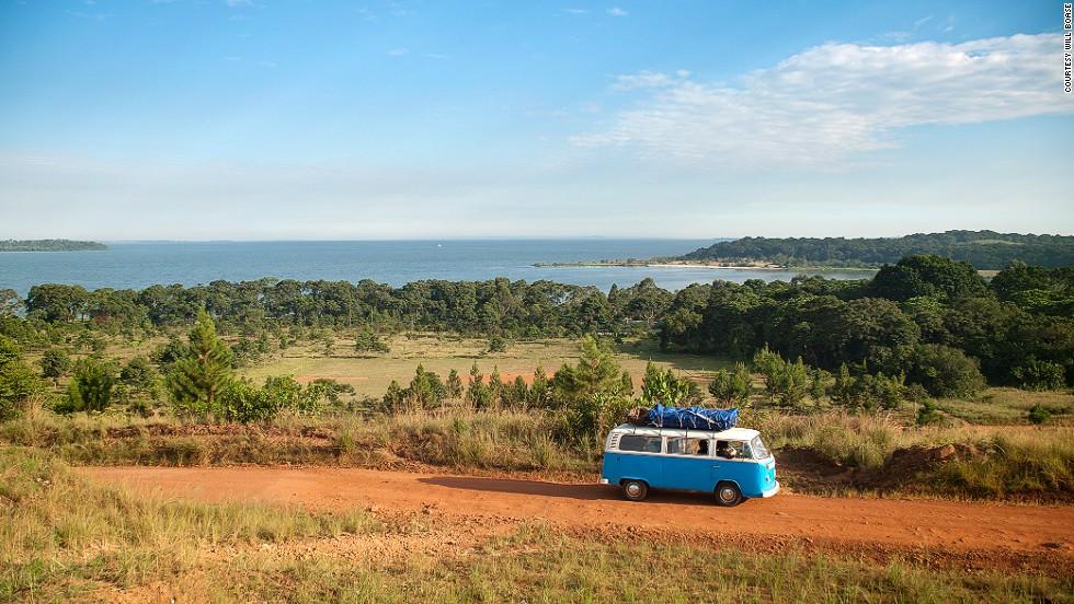 The Dude tours Lake Victoria on Bugala Island.