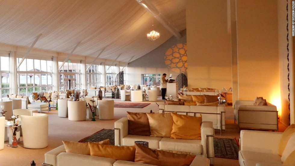 The Mega Tent pavilion at the Emirates Palace, Abu Dhabi, can serve up to 1,200 diners per day. The menu takes up to three months to prepare.