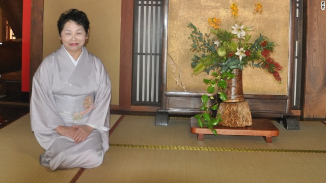 The current owner of Kamigoten Ryokan, Chieko Ryujin.