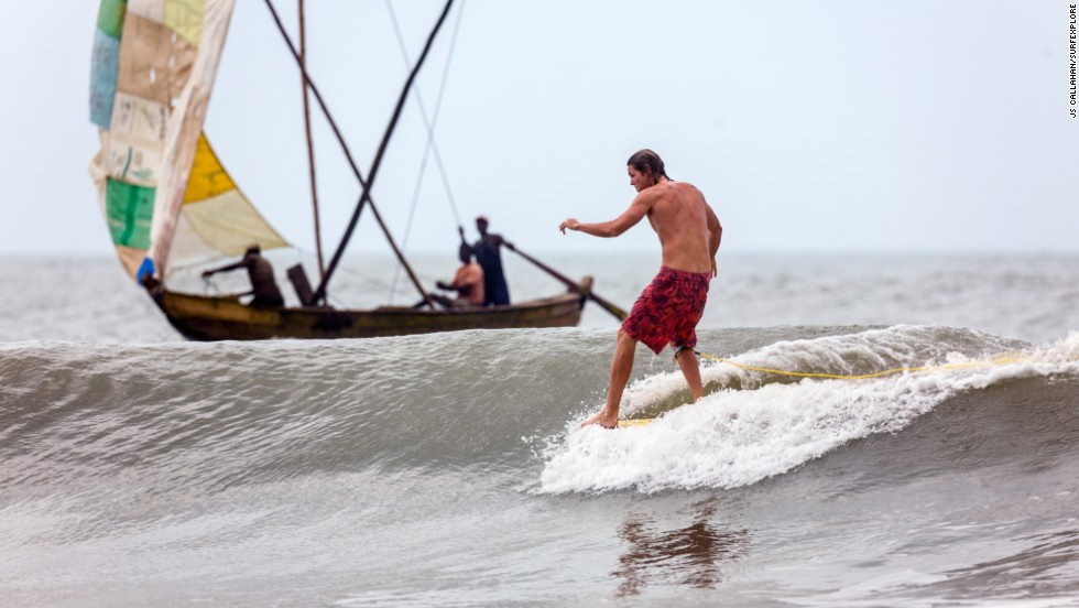 "Ghana's coastline and the Busua Beach area are a muddy, dusty, undiscovered surfers' paradise. ""It's one of West Africa's best surfing destinations,"" says John Callahan, a co-founder of <a href=""http://surfexplore.info/"" target=""_blank"">surfEXPLORE</a>."