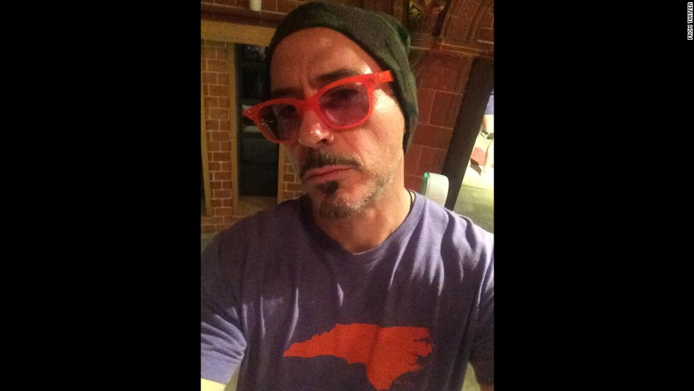 "Robert Downey Jr. <a href=""https://twitter.com/RobertDowneyJr/status/479410801933959168"" target=""_blank"">posted this selfie</a> to Twitter on Wednesday, June 18. ""I've been unemployed for 2 days and require excitement,"" he said. ""Time to tweet! Check in tomorrow--my followers get 1st dibs."" The next day he posted a first look at his upcoming film ""The Judge."""