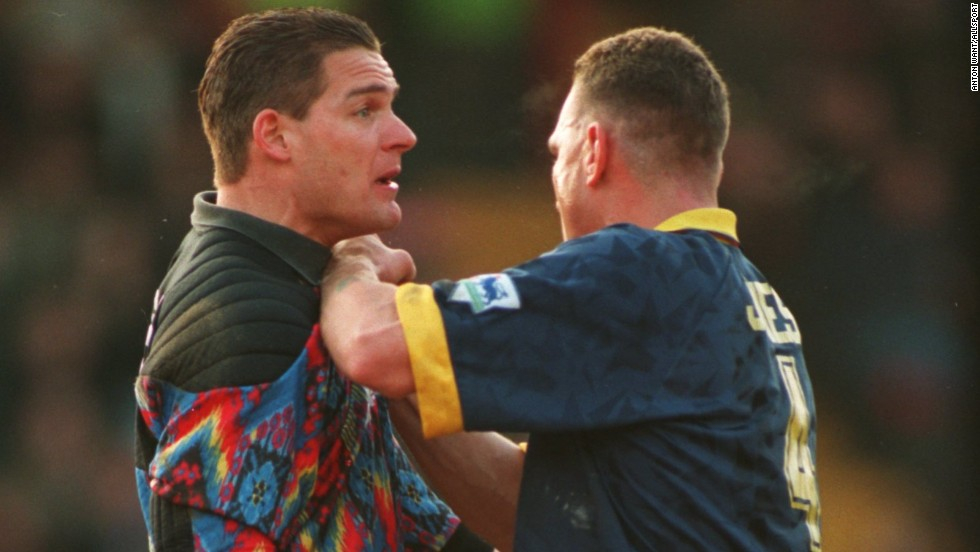 "Wimbledon's hard man Vinnie Jones terrorized opposition teams during his reign as leader of the ""Crazy Gang."""