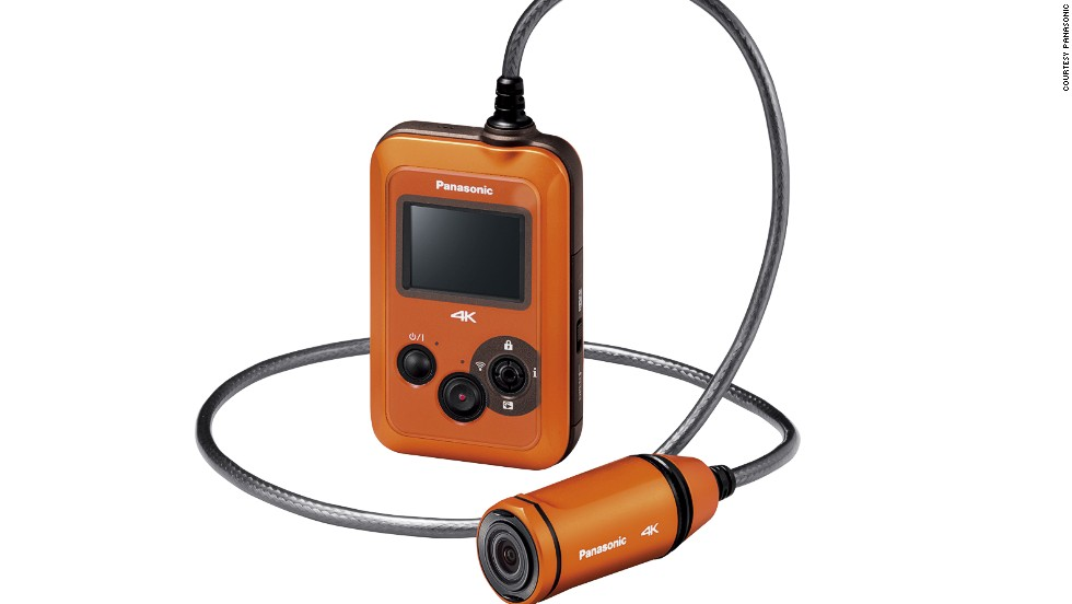 The world's first 25-frame-a-second, 4K (very high resolution) wearable camcorder, the Panasonic HX-A500 can even record underwater.