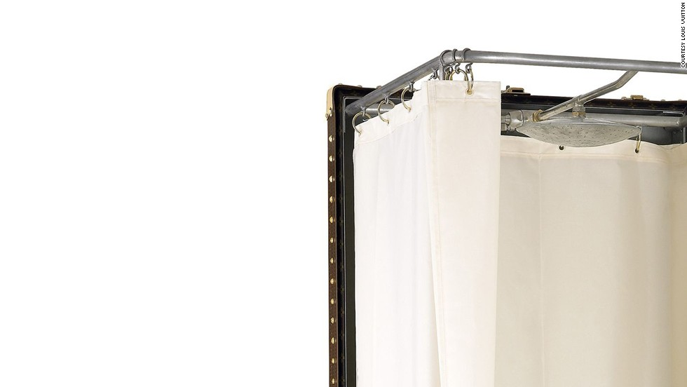 If a standard Louis Vuitton suitcase won't cut it, you'll be pleased to know one of the designer's custom options now includes this shower-in-a-trunk.