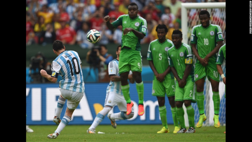 Lionel Messi scored twice during Argentina's 3-2 victory over Nigeria. The Barcelona forward was in unstoppable form but Nigeria refused to yield with Ahmed Musa hitting a double of his own. The five-goal thriller ended with both teams progressing into the last 16.