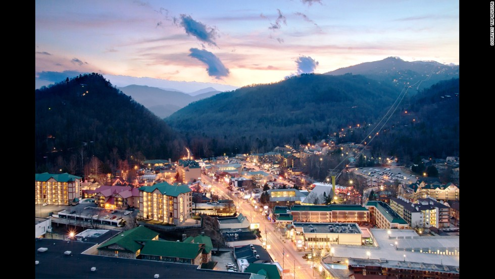 While enjoying the great outdoors, visitors to Gatlinburg, Tennessee, can explore Great Smoky Mountain National Park, take a stroll or hop on a trolley through the lively downtown for about $1,400.