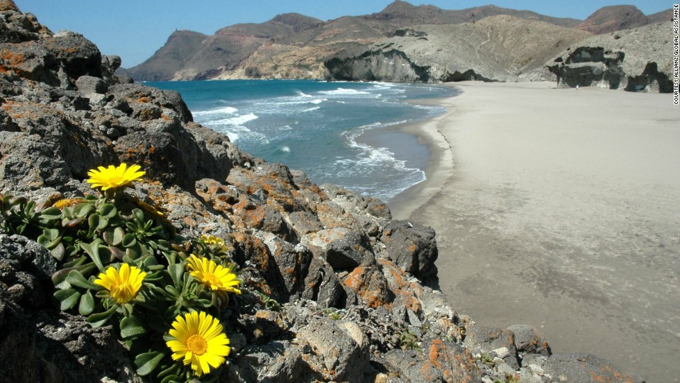 Another UNESCO Biosphere Reserve and the largest protected coastal area in the southern Andalusia region of Spain, Cabo de Gata-Nijar Natural Park is known for its diverse landscape which includes wetlands, spectacular volcanic cliffs, white beaches and a saltwater lagoon.