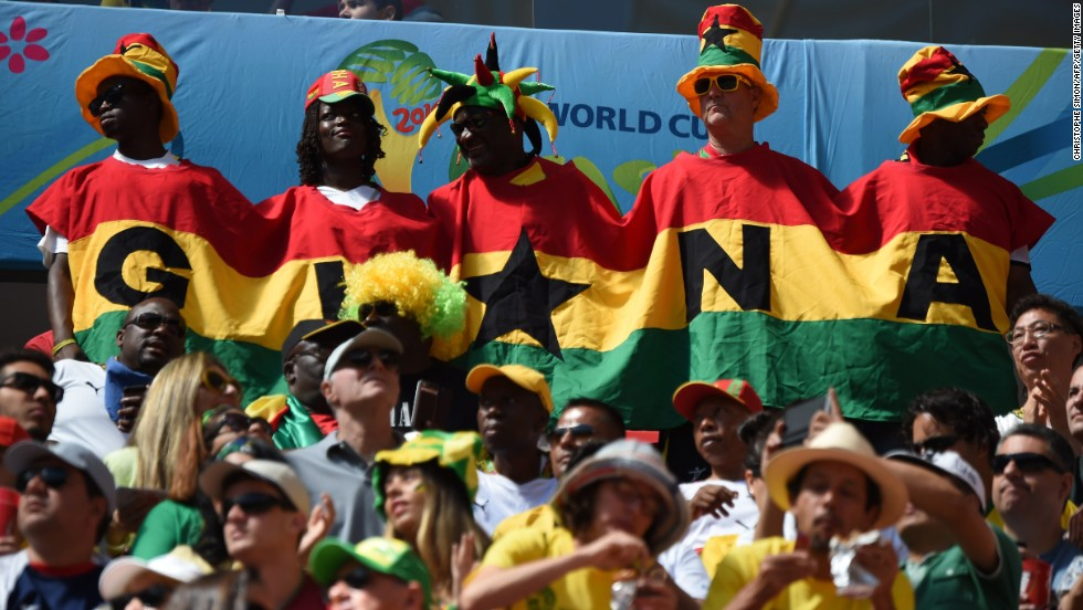 "Ghana fans gather before the game against Portugal.<a href=""http://www.cnn.com/2014/06/25/football/gallery/world-cup-0625/index.html""> See the best World Cup photos from June 25.</a>"