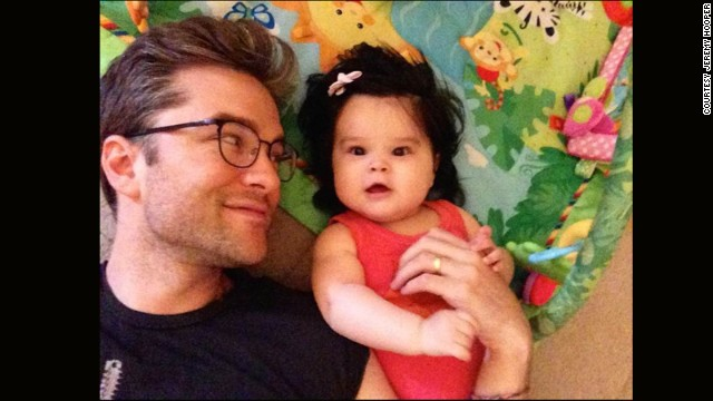 Jeremy Hooper and his husband adopted their daughter Savannah last fall.