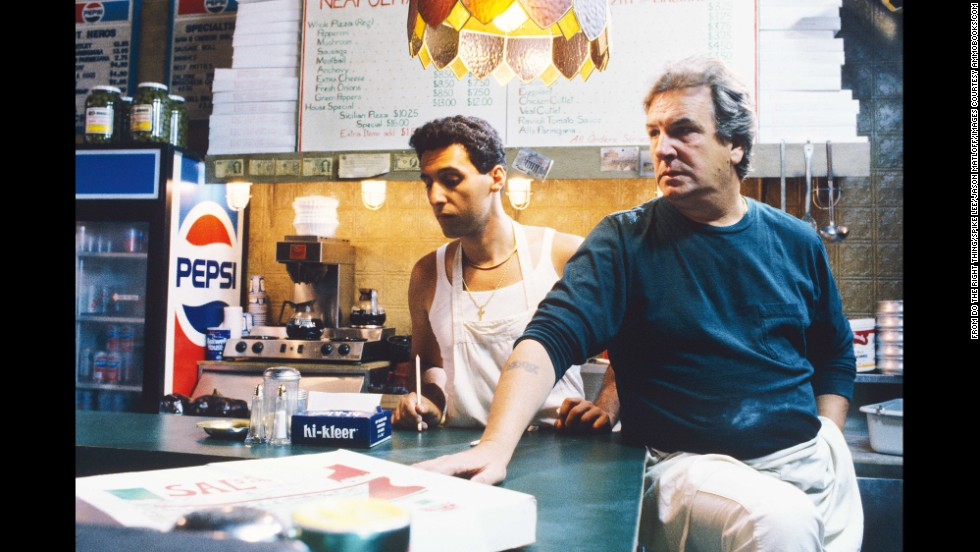 Sal, played by Danny Aiello, right, owns a local pizzeria, an Italian in what's become an African-American neighborhood. His son Pino (John Turturro) is prejudiced against the locals. The pizzeria, a neighborhood gathering spot, eventually becomes the center of trouble.