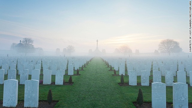 Belgium's Flanders region: a landscape dotted with war cemeteries.