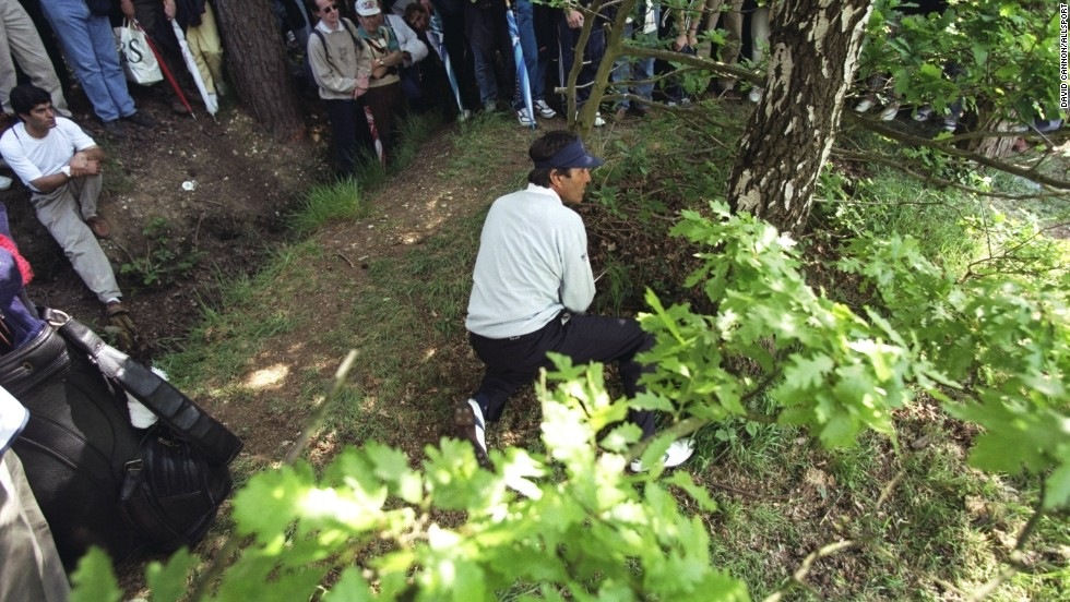 There was seemingly no situation that Ballesteros couldn't extricate himself from, whether his ball be lodged in a hedge, behind a tree or in a stream. His infamous escape from a car park at Lytham saw him birdie one of his final holes on his way to a maiden major at the British Open in 1979.