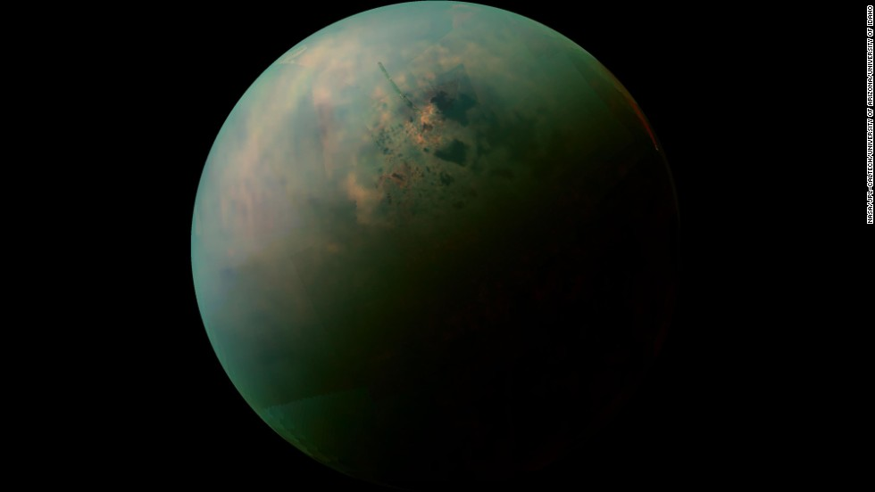4. Titan revealed as Earth-like world with rain, rivers, lakes and seas.  Titan is the only known place in the solar system, other than Earth, that has stable liquid on its surface.   Rather than water, its lakes are made of liquid ethane and methane.