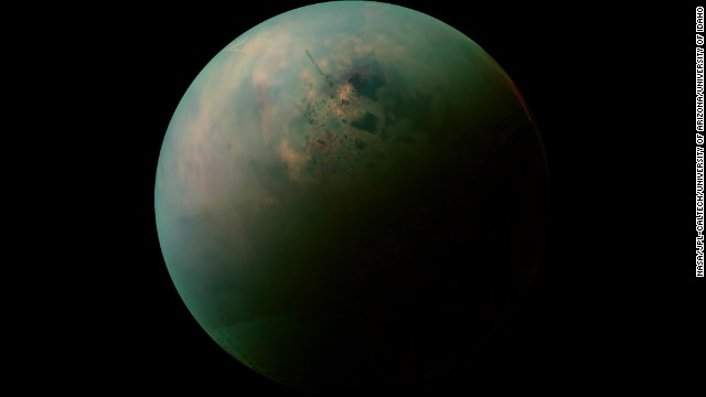 4. Titan revealed as Earth-like world with rain, rivers, lakes and seas.  Titan is the only known place in the solar system, other than Earth, that has stable liquid on its surface.   Rather than water, ts lakes are made of liquid ethane and methane.