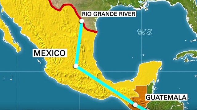 Showdown Over Immigration This Is An Invasion CNN - Mexico map before us invasion