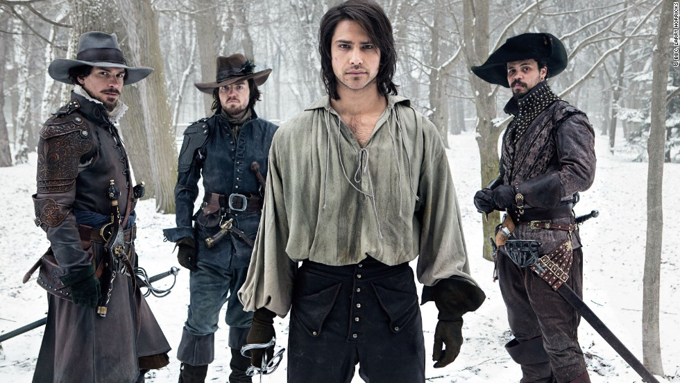 "If you need to get your swashbuckling fix, tune in to season 2 of ""The Musketeers,"" beginning January 17 on BBC America. From left, it's Aramis (Santiago Cabrera), Athos (Tom Burke), D'Artagnan (Luke Pasqualino) and Porthos (Howard Charles) in a fresh take on Alexandre Dumas' classic novel, ""The Three Musketeers."""