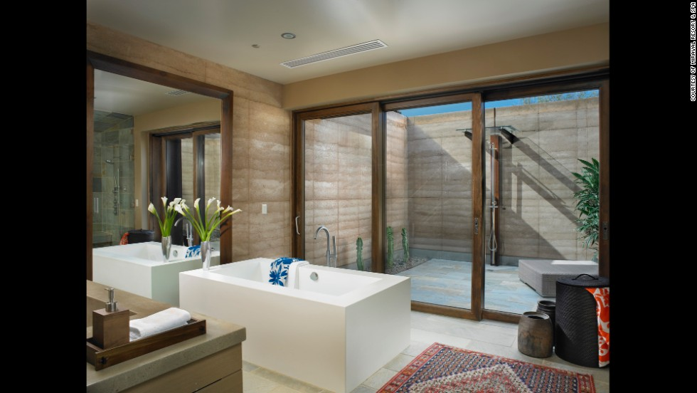 Luxury at its finest, the Miraval Resort in Tuscan is a spot complete with outdoor activities and villas featuring a LEED-certified outdoor shower.