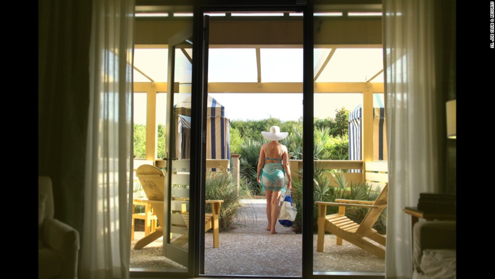 Even in resort-rich Florida, the WaterColor Inn in Santa Rosa stands above the rest with its private outdoor showers in the first-floor rooms.
