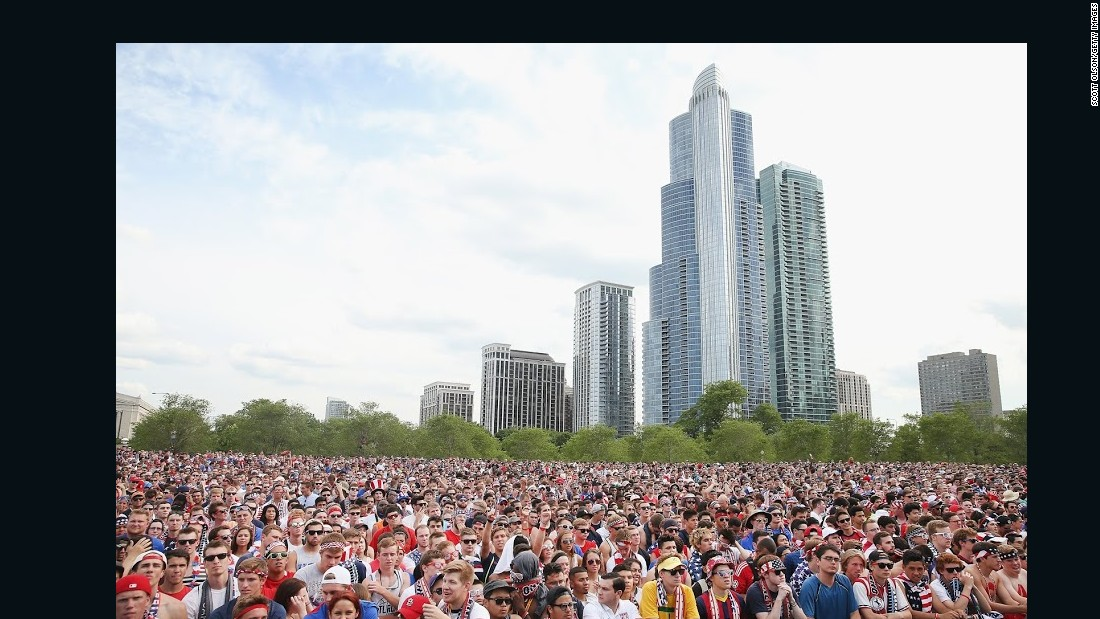 USA World Cup fans Chicago