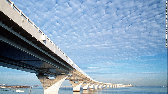 Tokyo's Aqua-Line: Bridge above, tunnel beneath.