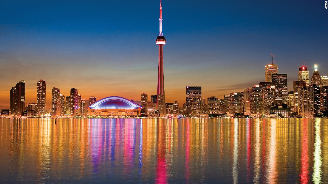 With perhaps Canada's top skyline -- including the 553-meter-high CN Tower -- Toronto came fourth in the survey.