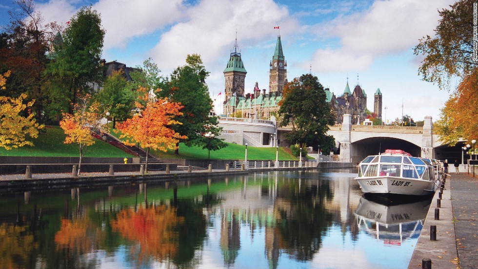 "Historic Rideau Canal, a UNESCO site built in the early 19th century, is made up of a chain of  lakes, rivers and canals stretching 202 kilometers from Kingston to Ottawa. In winter, a 7.8-kilometer stretch of the frozen Rideau Canal is turned into a skating rink. <a href=""http://www.ottawatourism.ca/en/visitors/what-to-do/capital-heritage/rideau-canal"" target=""_blank""><em><br />More info: Ottawatourism.ca</a></em>"