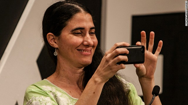 Cuban blogger Yoani Sanchez was among those who met with the Google executives.
