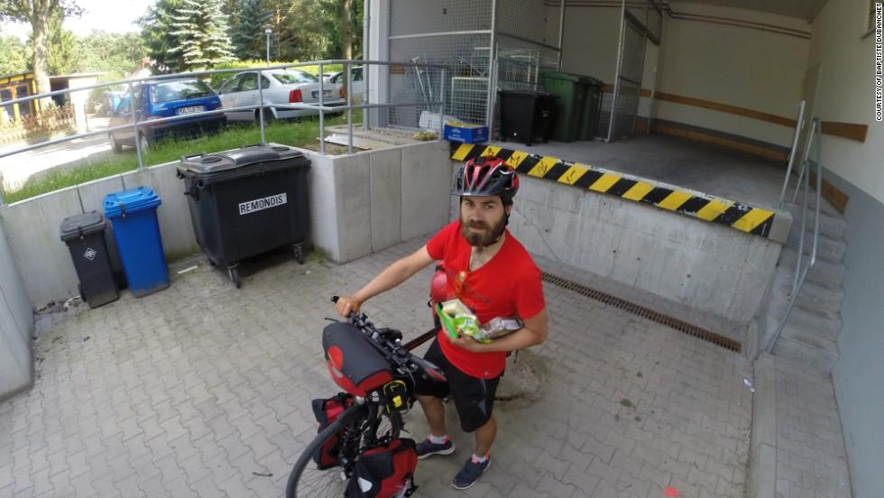Dubanchet's journey saw him cycle 3,000 kilometers across Europe.