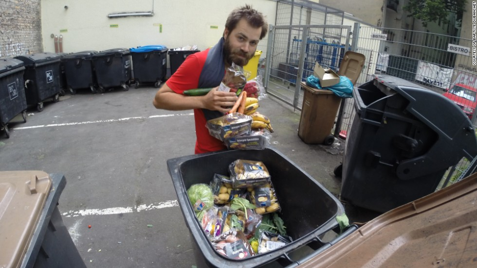 Frenchman Baptiste Dubanchet cycled from Paris to Warsaw eating only food that was consigned to the rubbish heap.